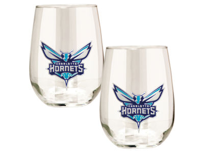 Charlotte Hornets Great American 2pc 16oz Stemless Wine Glass Set