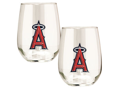 Los Angeles Angels Great American 2pc 16oz Stemless Wine Glass Set
