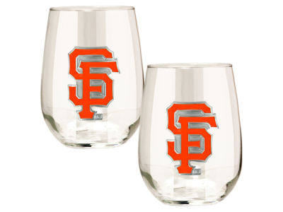 San Francisco Giants Great American 2pc 16oz Stemless Wine Glass Set