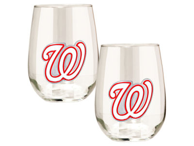 Washington Nationals Great American 2pc 16oz Stemless Wine Glass Set