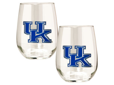 Kentucky Wildcats Great American 2pc 16oz Stemless Wine Glass Set