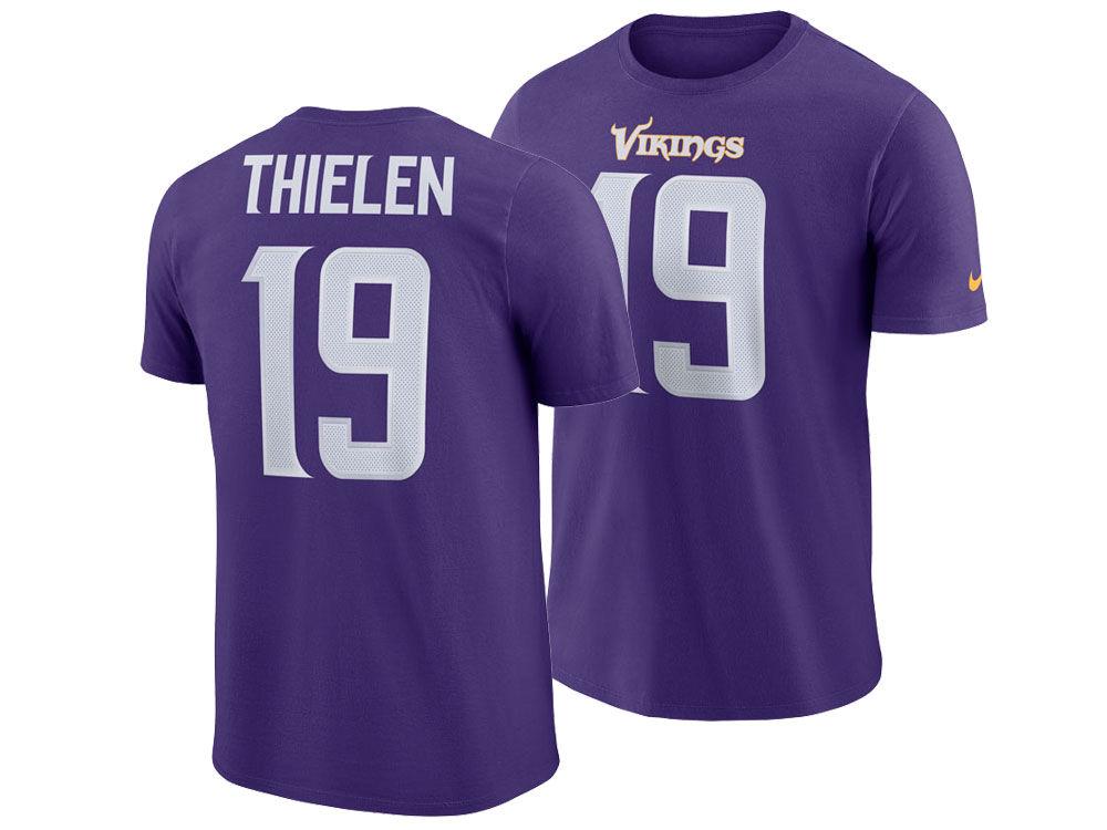 Minnesota Vikings Adam Thielen Nike NFL Men s Pride Name and Number  Wordmark T-shirt  dcd279d1e