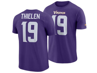 Minnesota Vikings Adam Thielen Nike NFL Men's Pride Name and Number Wordmark T-shirt