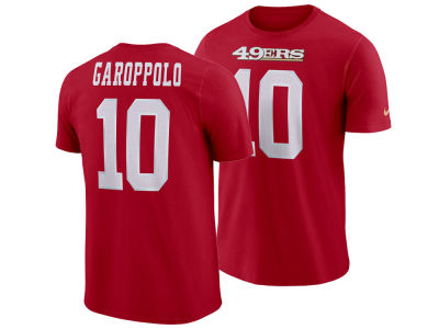 San Francisco 49ers Jimmy Garoppolo Nike NFL Men's Pride Name and Number Wordmark T-shirt