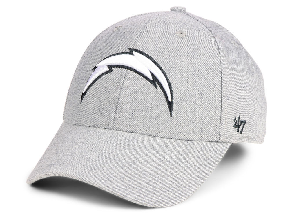 Los Angeles Chargers  47 NFL Heathered Black White MVP Cap  bc6147abf85