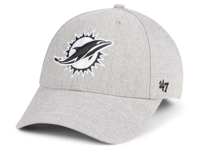 Miami Dolphins '47 NFL Heathered Black White MVP Cap