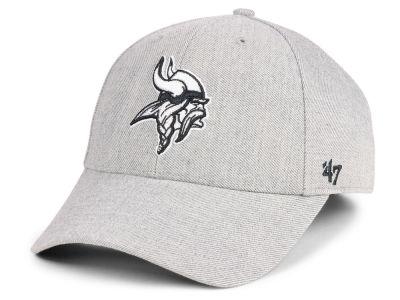 dc11827e9b8 Minnesota Vikings  47 NFL Heathered Black White MVP Cap