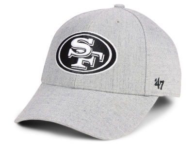 San Francisco 49ers  47 NFL Heathered Black White MVP Cap 8fcb0419596