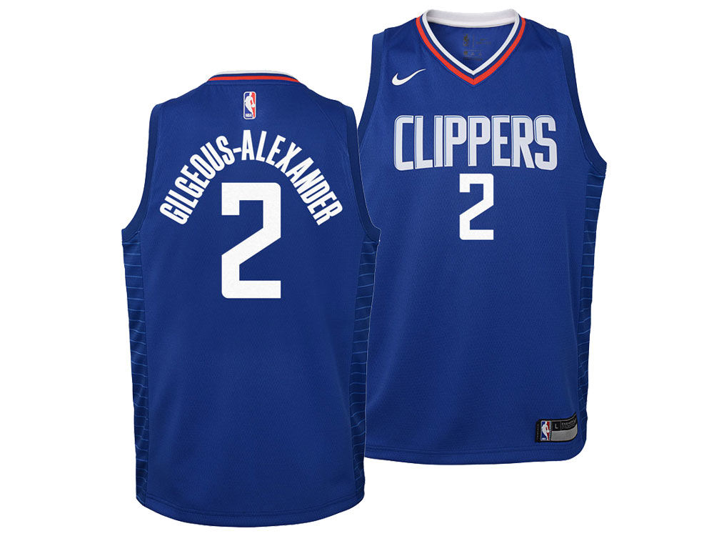 ced4036b5a2 ... best price los angeles clippers shai gilgeous alexander nike nba youth icon  swingman jersey lids 75eee