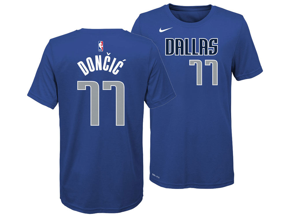 Dallas Mavericks Luka Doncic Nike NBA Youth Icon Name and Number T-Shirt  a1118470f