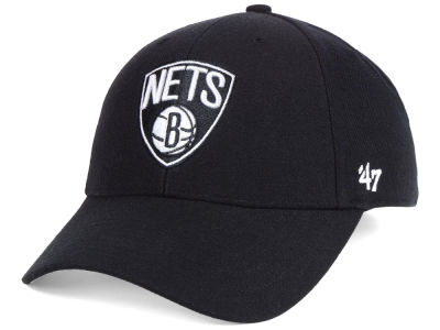 Brooklyn Nets '47 NBA Black White MVP Cap
