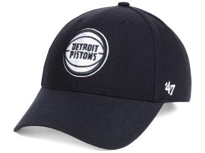 promo code 2dda8 9c509 Detroit Pistons  47 NBA Black White MVP Cap