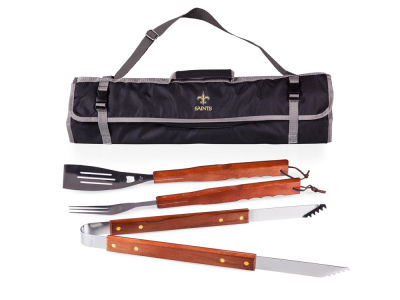 New Orleans Saints Picnic Time 3-Piece BBQ Tote & Tools Set