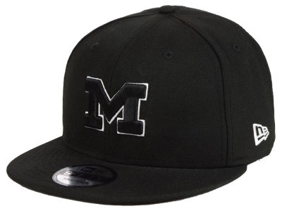 Michigan Wolverines New Era NCAA Black White Fashion 9FIFTY Snapback Cap