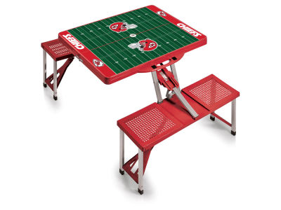 Kansas City Chiefs Picnic Time Picnic Table Portable Folding Table with Seats