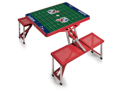 New England Patriots Picnic Time Picnic Table Portable Folding Table with Seats