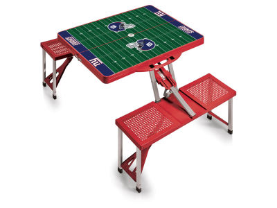 New York Giants Picnic Time Picnic Table Portable Folding Table with Seats