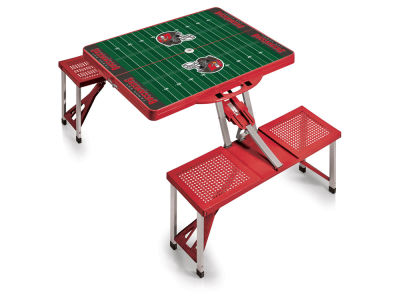 Tampa Bay Buccaneers Picnic Time Picnic Table Portable Folding Table with Seats