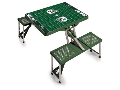 New York Jets Picnic Time Picnic Table Portable Folding Table with Seats