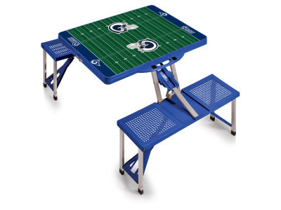 Los Angeles Rams Picnic Time Picnic Table Portable Folding Table with Seats