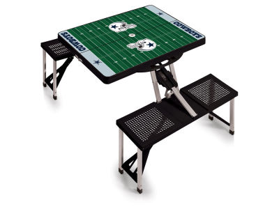 Dallas Cowboys Picnic Time Picnic Table Portable Folding Table with Seats