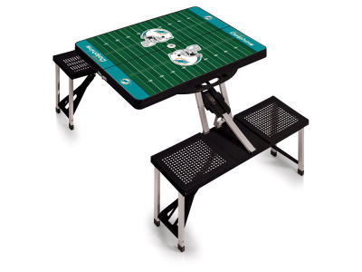 Miami Dolphins Picnic Time Picnic Table Portable Folding Table with Seats
