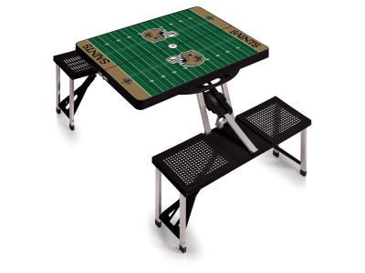 New Orleans Saints Picnic Time Picnic Table Portable Folding Table with Seats