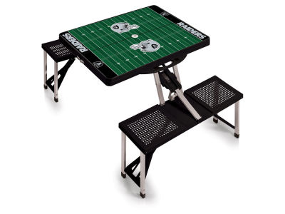 Oakland Raiders Picnic Time Picnic Table Portable Folding Table with Seats