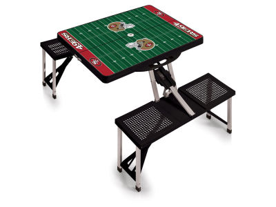 San Francisco 49ers Picnic Time Picnic Table Portable Folding Table with Seats