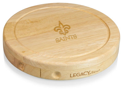 New Orleans Saints Picnic Time Brie Cheese Board & Tools Set