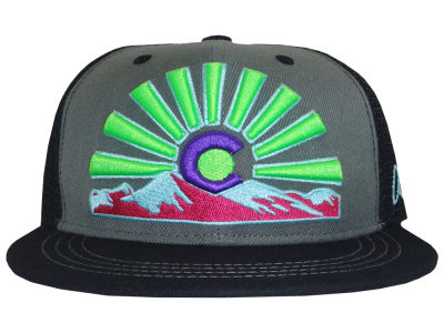 Aksels Colorado Sunset Flat Bill Snapback Cap