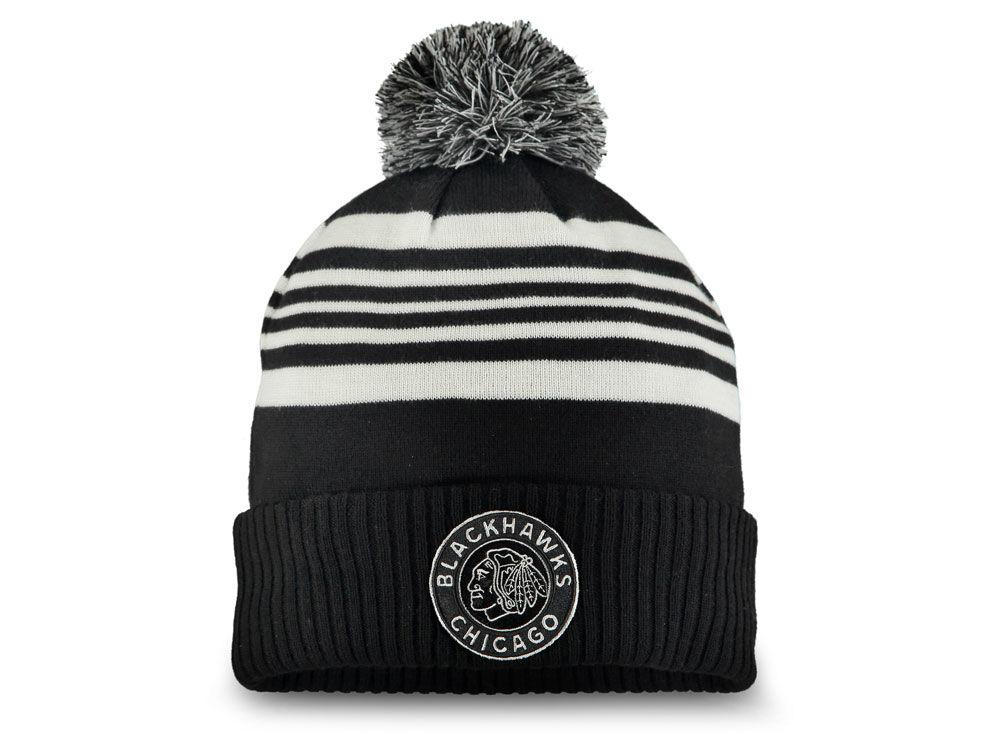 Chicago Blackhawks NHL 2019 NHL Winter Classic Cuffed Pom Knit  3b9478e491b