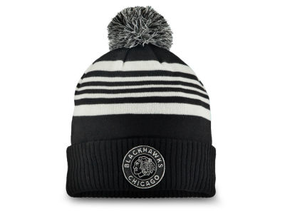 Chicago Blackhawks 2019 NHL Winter Classic Cuffed Pom Knit