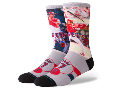 Los Angeles Angels Shohei Ohtani Stance MLB Player Crew Socks