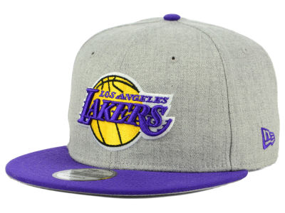Los Angeles Lakers New Era NBA Heather Gray 9FIFTY Snapback Cap