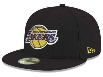 a578b6beced Los Angeles Lakers New Era 2018 NBA Basic 59FIFTY Cap
