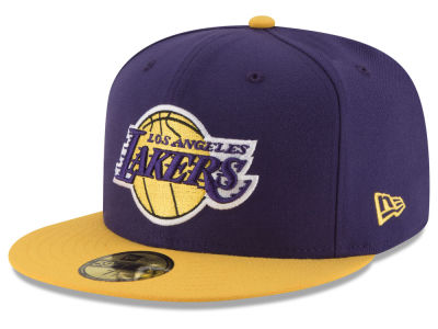 Los Angeles Lakers New Era NBA Basic 2 Tone 59FIFTY Cap 5abd5e9a4c6