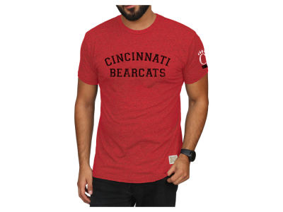 Cincinnati Bearcats Retro Brand 2018 NCAA Men's Stacked Wordmark T-Shirt