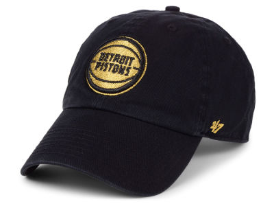 Detroit Pistons '47 NBA Met Gold CLEAN UP Cap