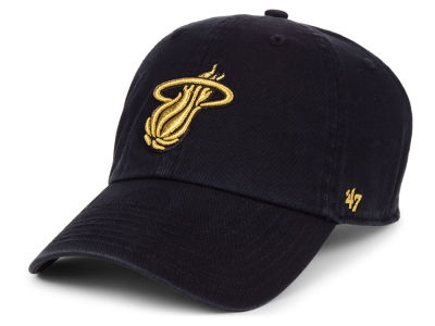 Miami Heat '47 NBA Met Gold CLEAN UP Cap