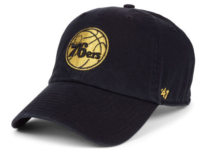 Philadelphia 76ers  47 NBA Met Gold CLEAN UP Cap 8af1f2da49cc