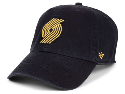 Portland Trail Blazers '47 NBA Met Gold CLEAN UP Cap