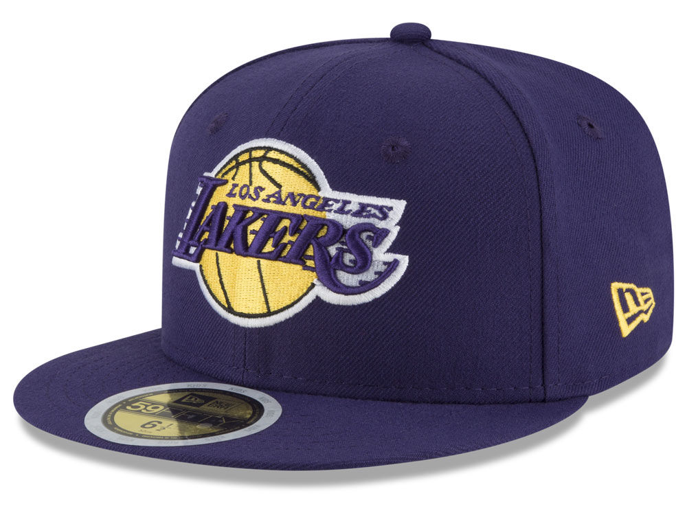 Los Angeles Lakers New Era NBA Youth Basic 59FIFTY Cap  6612e41f7a34