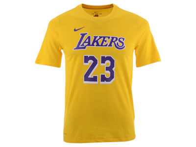Los Angeles Lakers LeBron James Nike NBA Youth Icon Name and Number T-Shirt