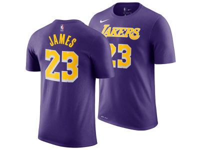 Los Angeles Lakers LeBron James Nike NBA Youth Statement Name and Number T-shirt