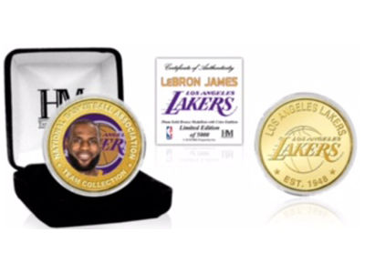 Los Angeles Lakers LeBron James Highland Mint NBA Bronze Mint Coin