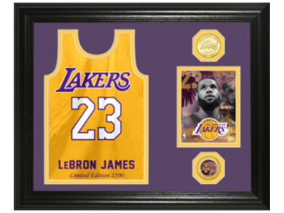 Los Angeles Lakers LeBron James Highland Mint NBA Jersey Bronze Coin Photo Mint