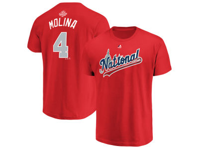 St. Louis Cardinals Yadier Molina 2018 MLB Men's All Star Game Player T-Shirt