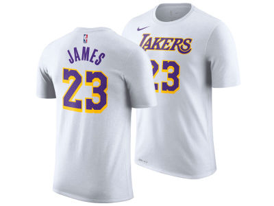 Los Angeles Lakers LeBron James Nike NBA Men s Association Player T-Shirt f50cd2340