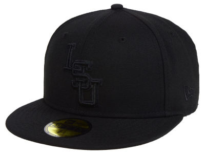 LSU Tigers New Era NCAA Core Black on Black 59FIFTY Cap